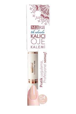 Mara Kalıcı Oje Kalemi 04 Light Cream