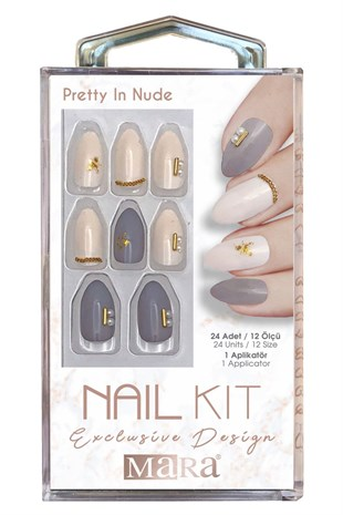 Mara Nail Kit Pretty In Nude Takma Tırnak