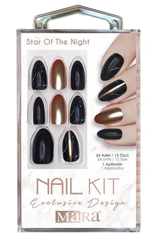 Mara Nail Kit Star Of The Night Takma Tırnak