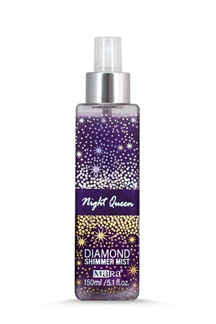 Mara Night Queen Diamond Shimmer Mist Vücut Spreyi Silver