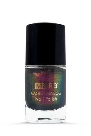 Mara Rainbow Nail Polish Oje - Pink - Gold - Green